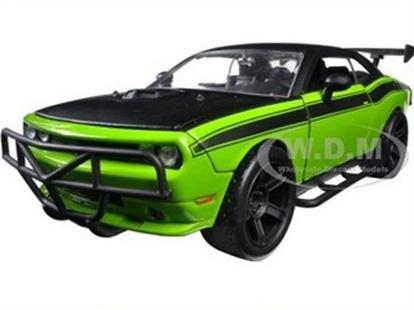 """พรีออเดอร์ รถเหล็ก รถโมเดล US LETTY'S DODGE CHALLENGER รถ OFF ROAD """"FAST & FURIOUS 7"""" สีเขียว สเกล 1:24"""