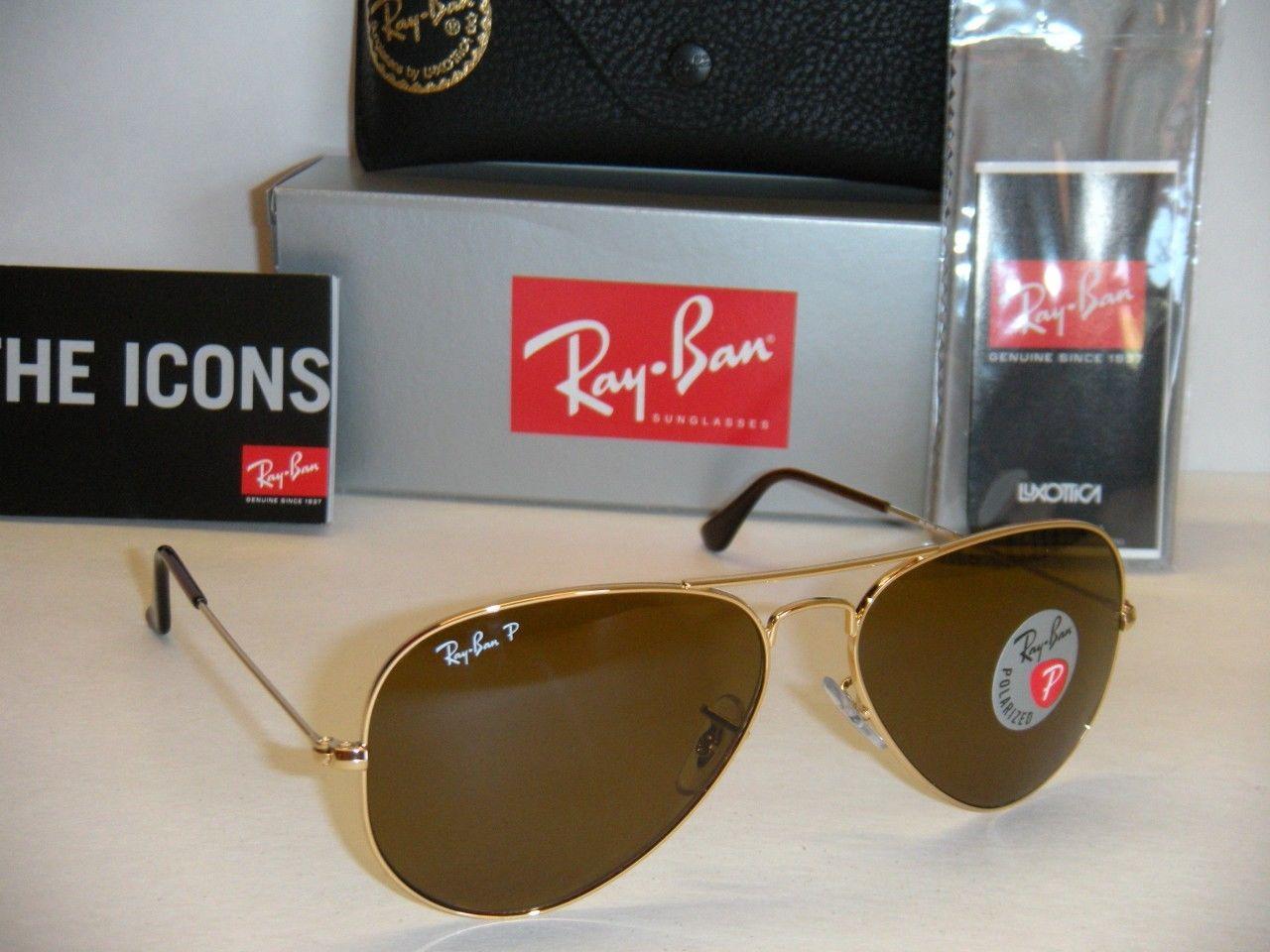 Ray Ban AVIATOR RB3025 001/57 Polarized 58mm