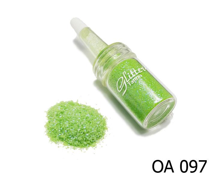 สี เขียวมะนาวประกายน้ำเงินไข่มุก