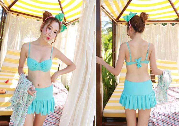 บิกินี่ Bikini-Fairy Daisy (ฺBlue) ชุดว่ายน้ำแบบเซ็ท