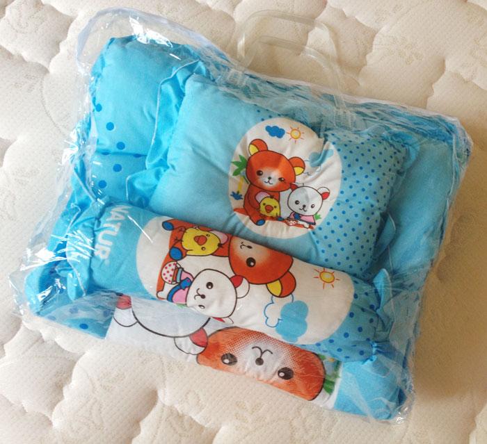 ที่นอนปิกนิกหนาหนุ่ม สีฟ้าลายน้องหมีน่ารัก Natur