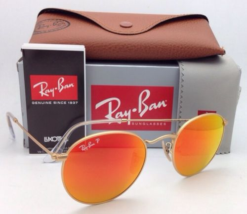 Ray Ban Round Flash RB3447 112/4D Polarized