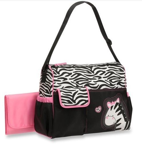 กระเป๋าคุณแม่ กระเป๋าสัมภาระเด็กอ่อน Babyboom ม้าลายสีชมพู