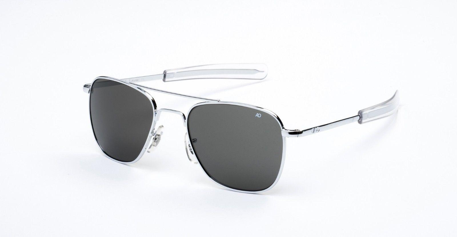 AO American Optical Original Pilot Chrome Silver - Made in USA