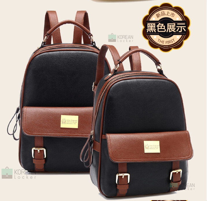 BEIBAOBAO Back packของแท้ (กระเป๋าเป้ สะพายหลัง) BA013 สีดำ พร้อมส่ง