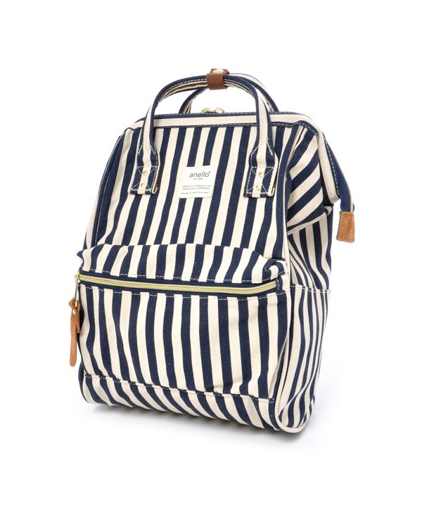 กระเป๋าเป้ Anello Stripe ฺNavy (Mini)