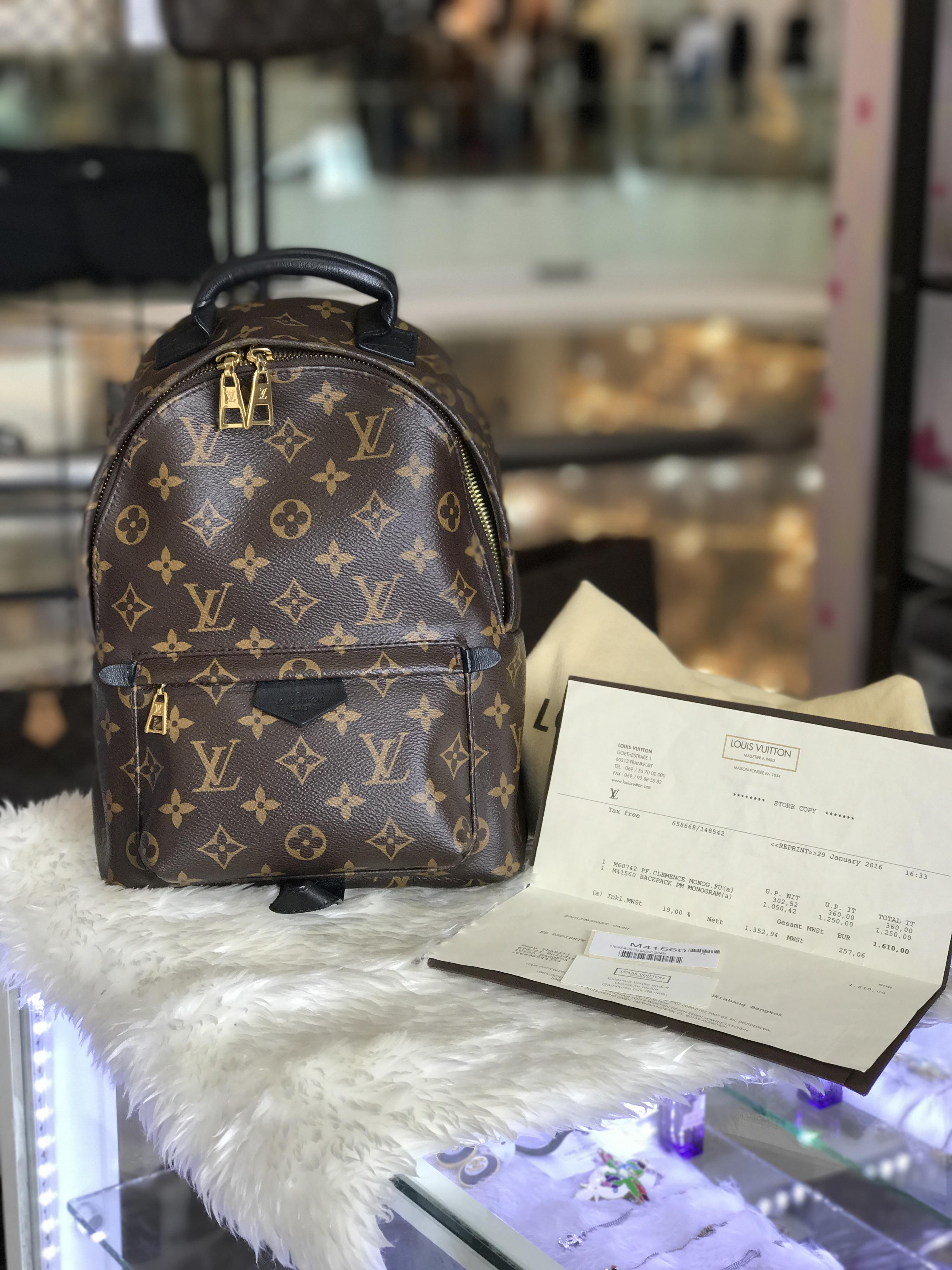 (SOLDOUT)LOUISVUITTON monogram palmspring backpack pm