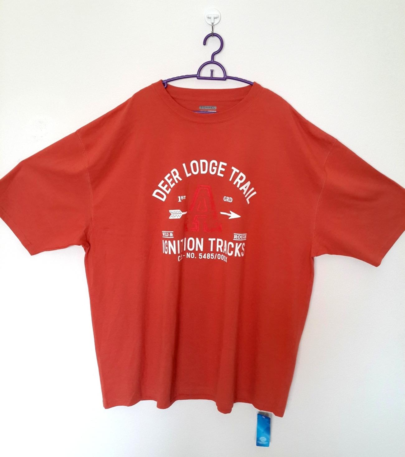[พร้อมส่ง] เสื้อยืดคอกลมเนื้อดีมาก ยี่ห้อ Zorrel ส่งในอเมริกา ยุโรป ไซส์ 4XL แฟชั่นเกาหลีสำหรับผู้ชายไซส์ใหญ่มาก แขนสั้น เก๋ เท่ห์ - [In Stock] Large Size Men Size 4XL Korean Hitz Short-sleeved T-Shirt