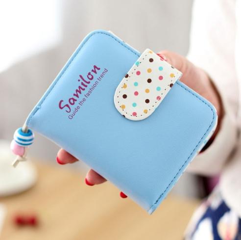 กระเป๋าสตางค์ผู้หญิง cute bag สี blue (Short)