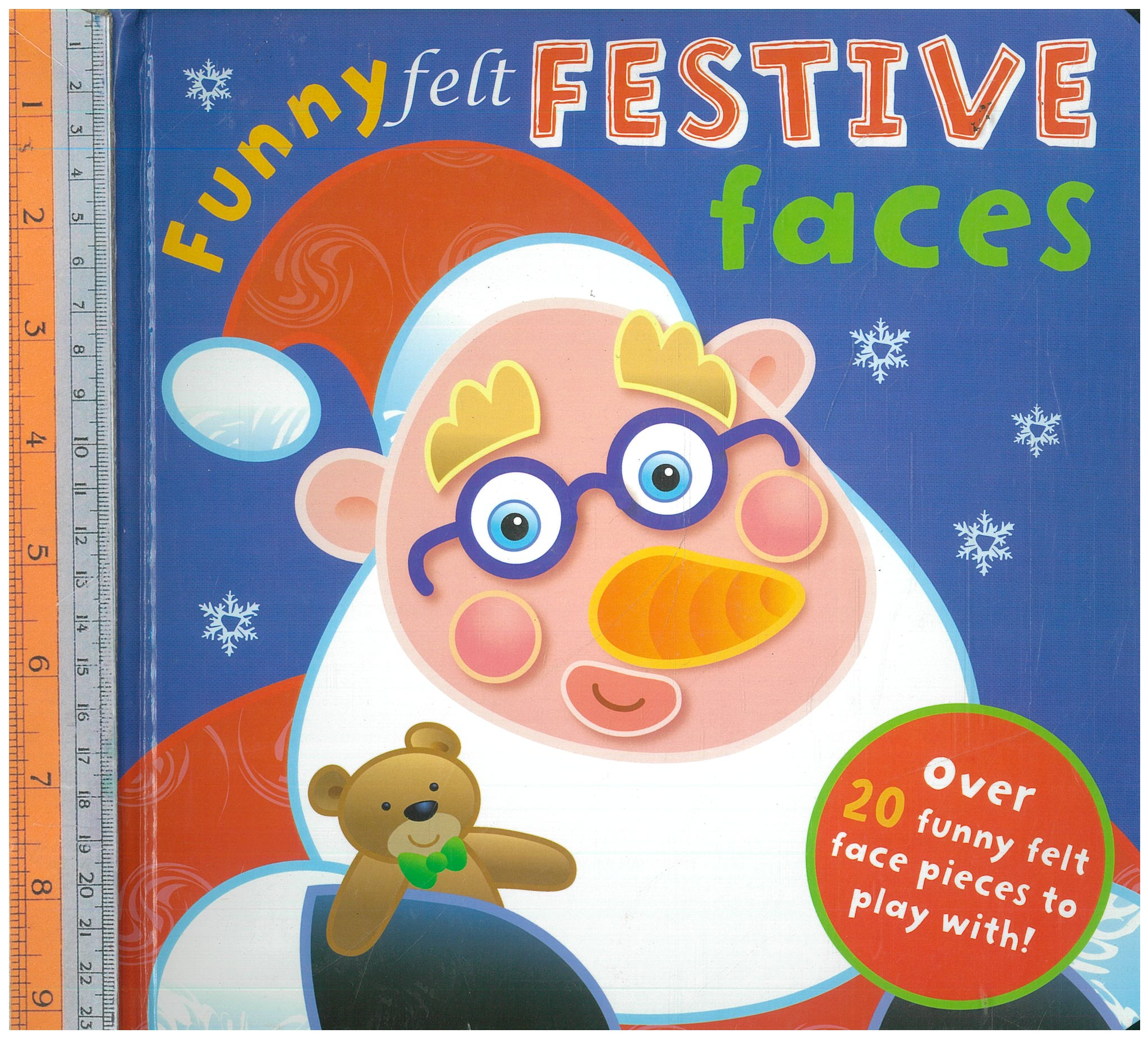 Funny felt festive faces