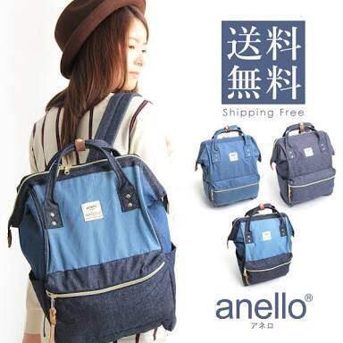 กระเป๋าเป้ Anello Denim Multi (Standard)