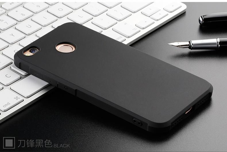 เคส Xiaomi Redmi 4X Simple TPU เคสนิ่ม (Black)