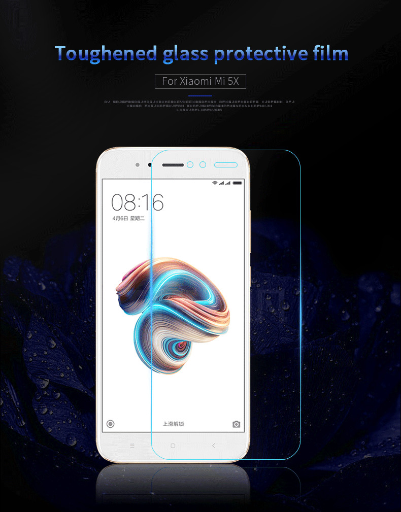 Xiaomi Mi5x / MiA1 ฟิล์มกระจกนิรภัย 9H+ (ไม่เต็มจอ)