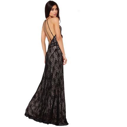**พรีออเดอร์** ชุดเดรสผู้หญิงแฟชั่นยุโรปใหม่ แขนกุด ลูกไม้ แบบเก๋ เท่ห์ / **Preorder** New European Fashion Slim Sexy Lace Evening Gown Dress