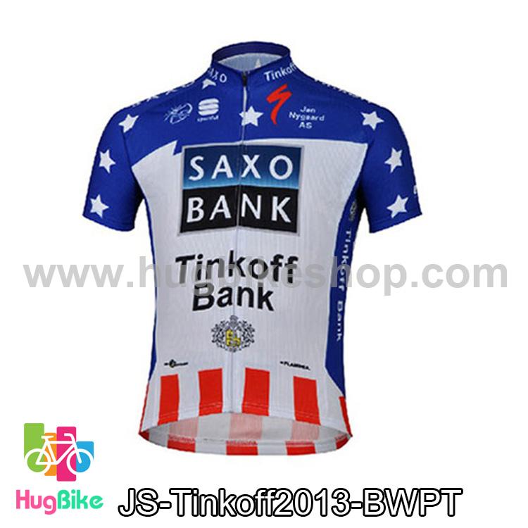 เสื้อจักรยานแขนสั้นทีม Tinkoff SAXO 13 สีน้ำเงินขาวลาย สั่งจอง (Pre-order)