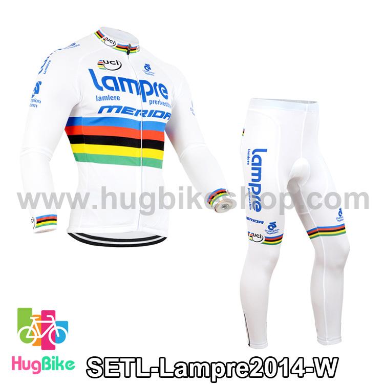 ชุดจักรยานแขนยาวทีม Lampre 14 สีขาว สั่งจอง (Pre-order)