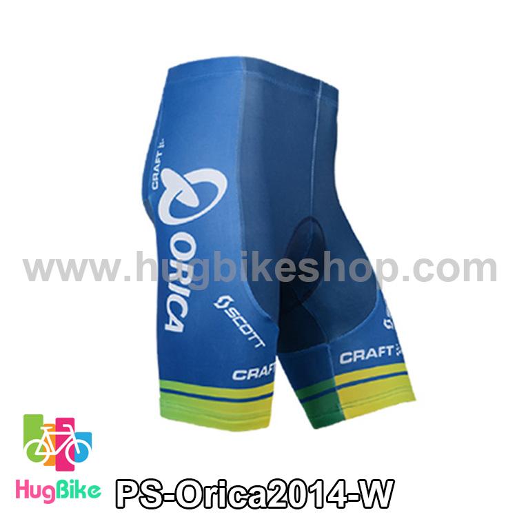 กางเกงจักรยานขาสั้นทีม Orica 14 สีน้ำเงินเขียว สั่งจอง (Pre-order)