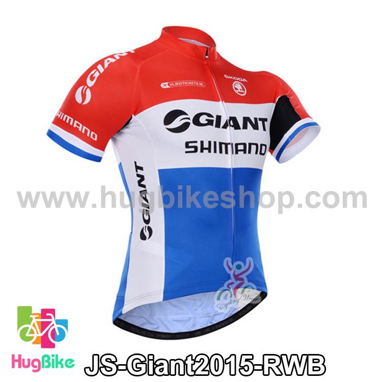 เสื้อจักรยานแขนสั้นทีม Giant 2015 สีแดงขาวฟ้า สั่งจอง (Pre-order)