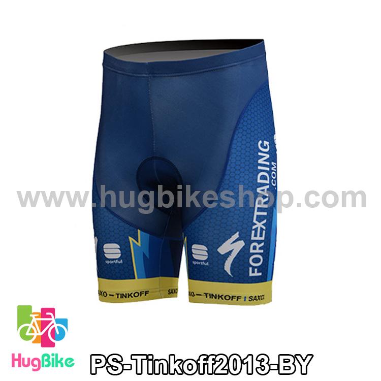 กางเกงจักรยานขาสั้นทีม Tinkoff SAXO 13 สีน้ำเงินเหลือง สั่งจอง (Pre-order)