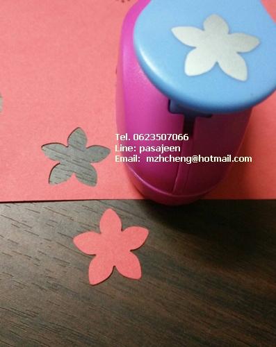 Punch เจาะกระดาษ 1''(2.5cm) รูปดอกไม้ 5กลีบ