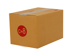 กล่องไปรษณีย์ฝาชนเบอร์ C+8 ขนาด 20 x 30 x 19 cm. ใบละ 7 บาท