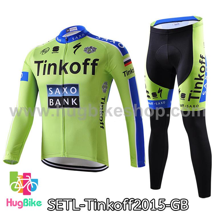 ชุดจักรยานแขนยาวทีม Tinkoff SAXO 15 สีเขียวฟ้า สั่งจอง (Pre-order)