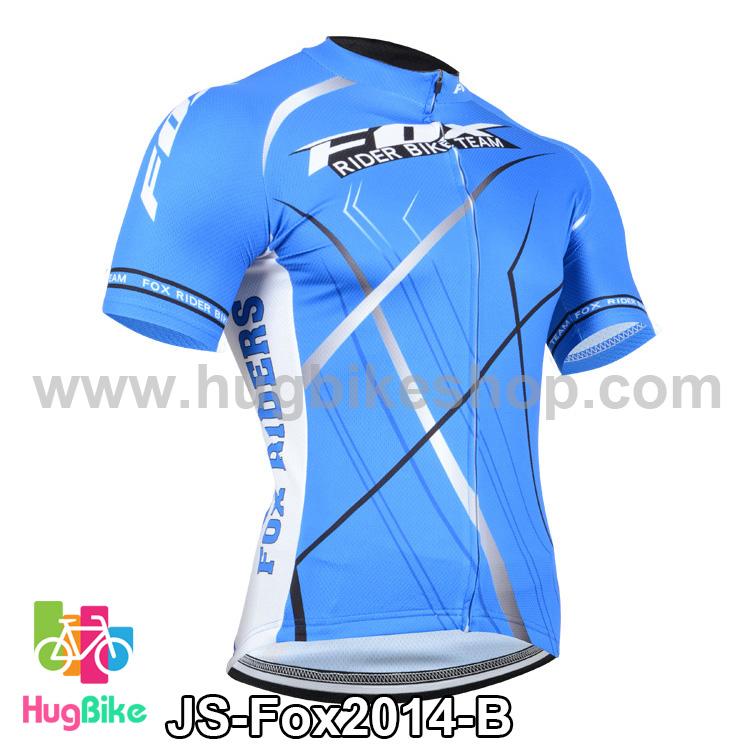 เสื้อจักรยานแขนสั้นทีม Fox 2014 สีน้ำเงิน สั่งจอง (Pre-order)