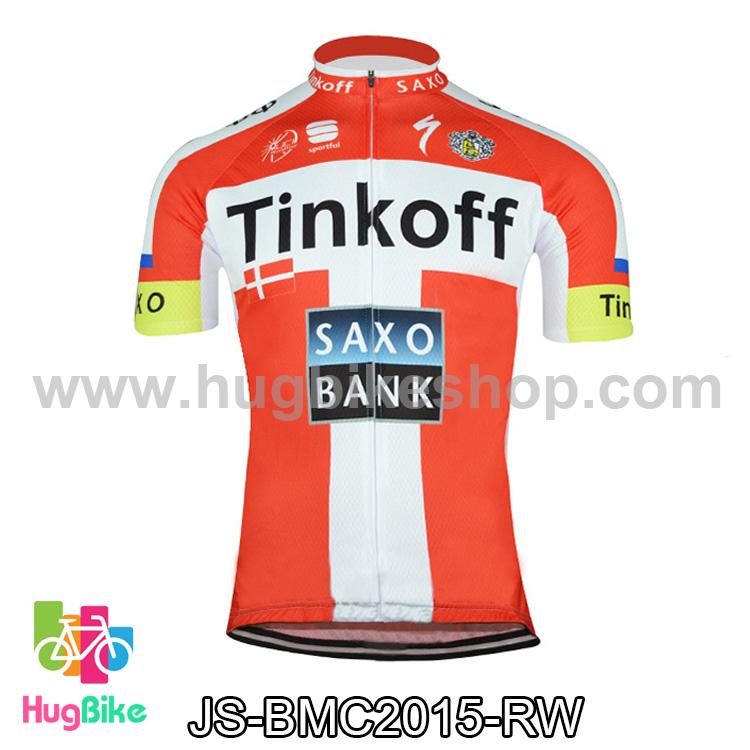 เสื้อจักรยานแขนสั้นทีม Tinkoff SAXO 2015 สีแดงขาว สั่งจอง (Pre-order)