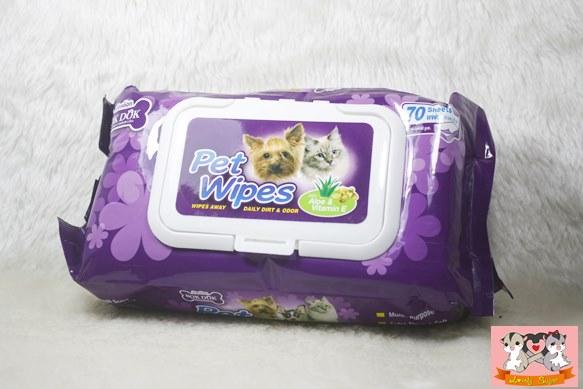 pet wiper แผ่นทำความสะอาดสัตว์เลี้ยง
