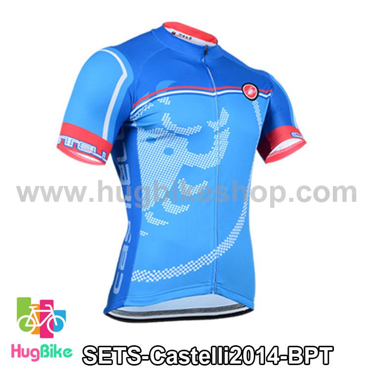 เสื้อจักรยานแขนสั้นทีม Castelli 2014 สีฟ้าลาย สั่งจอง (Pre-order)