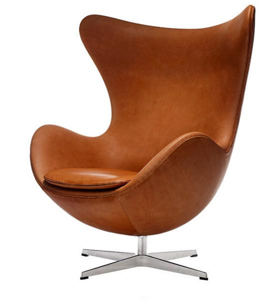 เก้าอี้ Egg chair- Italian leather