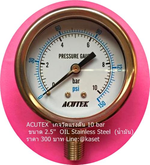 เพรสเชอร์เกจวัดแรงดันระบบน้ำ 10 bar