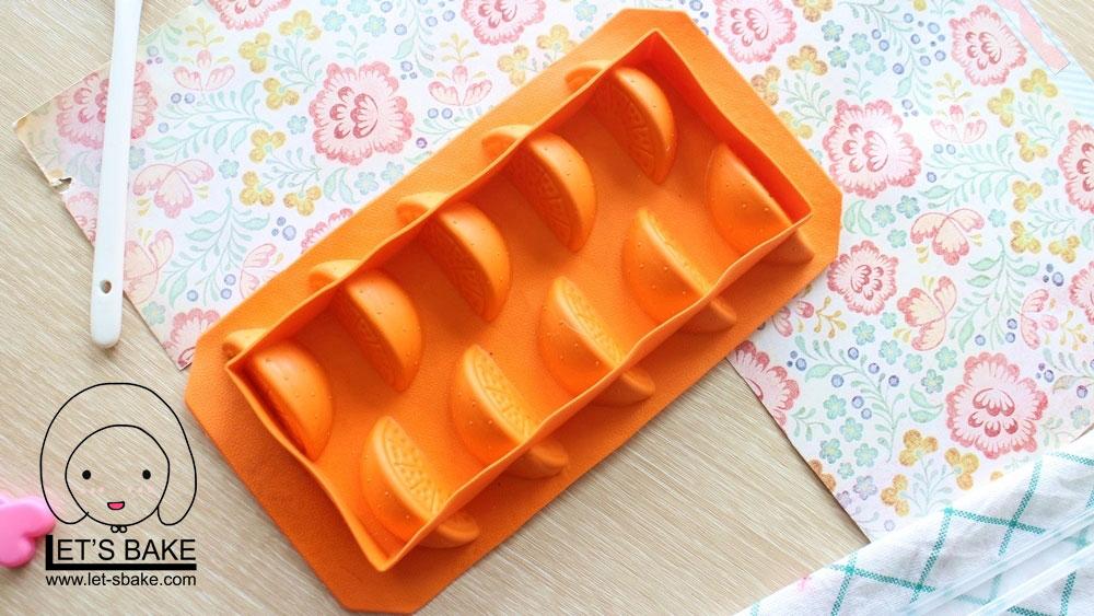 พิมพ์ขนมผลไม้ ส้ม เข้าเตาอบไม่ได้ B266