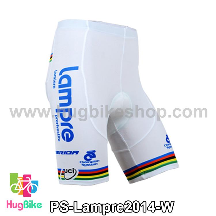 กางเกงจักรยานขาสั้นทีม Lampre 14 สีขาว สั่งจอง (Pre-order)