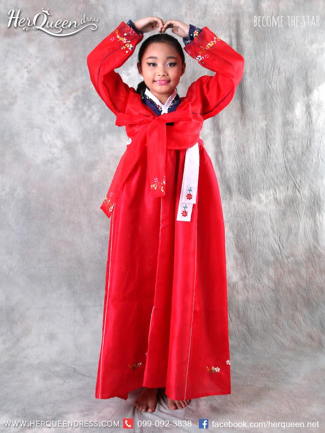 เช่าชุดแฟนซี &#x2665 ชุดแฟนซีเด็ก ชุดประจำชาติเกาหลี ชุดฮันบก สีต่างๆ