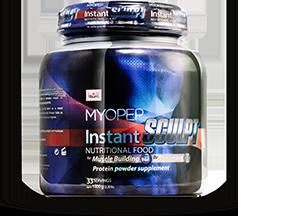 MYOPEP Instant Sculpt เป็นผลิตภัณฑ์เสริมโปรตีนสำหรับการสร้างกล้ามเนื้อและการทำตัวให้ผอมโดยมี 2 รสคือ Chocolate และ Vanila