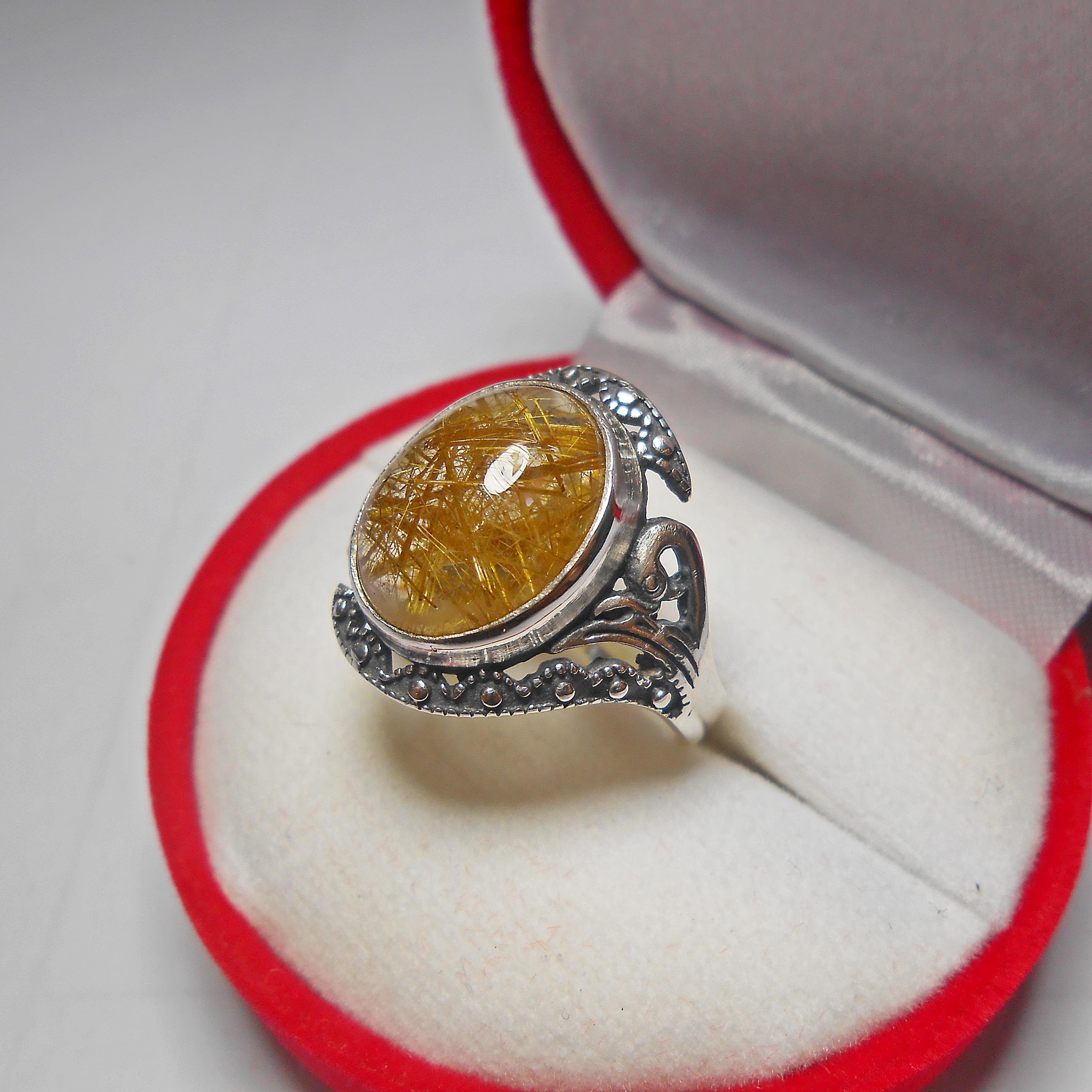 แหวน แก้วไหมทอง เกรด TOP น้ำงาม เส้นสวย