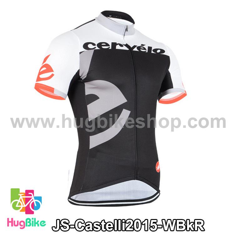 เสื้อจักรยานแขนสั้นทีม Castelli 2015 สีขาวดำแดง สั่งจอง (Pre-order)