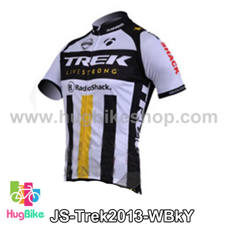 เสื้อจักรยานแขนสั้นทีม Trek 13 สีขาวดำเหลือง สั่งจอง (Pre-order)