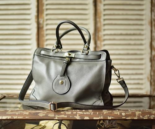 กระเป๋าหนัง แท้ Bag Rio (สีเทา)