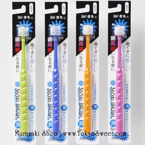 พร้อมส่ง ** STB 360do Toothbrush แปรงสีฟัน 360 องศาจากญี่ปุ่น สำหรับเด็กโต 6 ขวบขึ้นไป ผู้ใหญ่ก็ใช้ได้ค่ะ รุ่นขนแปรงนุ่ม (ราคาที่แสดงเป็นราคา 1 ชิ้นนะคะ สามารถเลือกสีได้ที่ด้านใน)