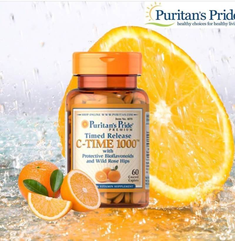 Vitamin C Time 1000 mg with Rose Hips Timed Release / 60 Caplets