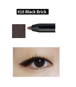 ++พร้อมส่ง++ CLIO Gelpresso Water Pencil Gel Liner No.16 Black Brick เนื้อเจลนุ่ม ละเอียด เขียนง่าย ติดทน มีประกายมุก สีสวย ทำความสะอาดง่าย