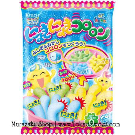 [ซื้อ 3 แถม 1] พร้อมส่ง ** Nyoki Nyoki Cororon [Soda/Melon/Pineapple] ชุดทำขนมมหัศจรรย์รสโซดา/เมล่อน/สับปะรด ทำออกมาแล้วเหมือนรูปตัวหนอนดึ๋งๆ ด้านในจะเป็นครีมนุ่มๆ และด้านนอกจะเป็นผงลูกอมหลากสี อร่อย สนุก