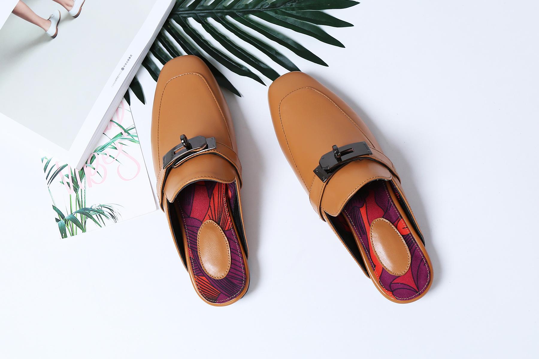 รองเท้าหนังแกะ Kelly style Brown