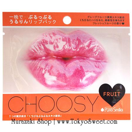 พร้อมส่ง ** Pure Smile Choosy Jelly Lip Pack [Fruit] แผ่นเจลลี่มาส์ก บำรุงริมฝีปาก (กลิ่นผลไม้)
