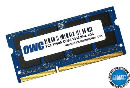Ram 4.0GB 1333MHz DDR3 SO-DIMM PC10600 204 Pin OWC