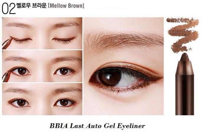 ++พร้อมส่ง++BBIA Last Auto Gel Eyeliner 0.5g สี น้ำตาลทอง (mellow brown) อายไลน์เนอร์เนื้อเจล เขียนง่าย เส้นคมสวย แห้งเร็ว กันน้ำ ติดทนนาน
