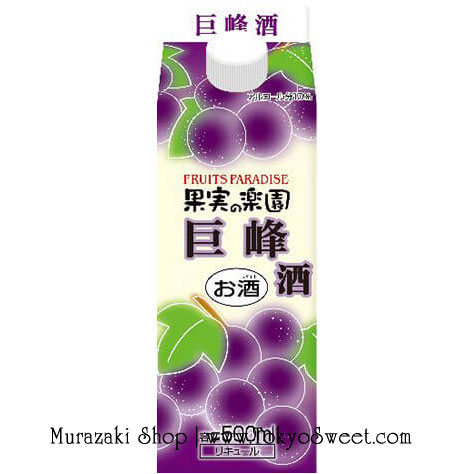 พร้อมส่ง ** Fruits Paradise - Kyouho Shu 500ml เหล้าองุ่นเคียวโฮ หมักแบบเหล้าสาเกญี่ปุ่น หอมกลิ่นองุ่น แอลกอฮอล์ 10%