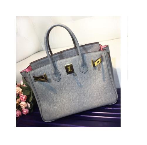 กระเป๋าหนัง Birkin 30 (Gray-Baby Pink) SALE!